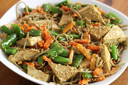 Sesame Ginger Noodles with Tofu